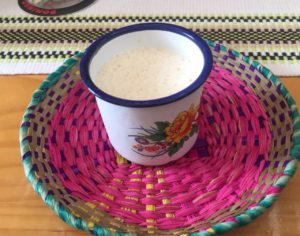 Agua de sapo a tasty shot of Costa Rican original recipe from the caribbean served during the culinary experience